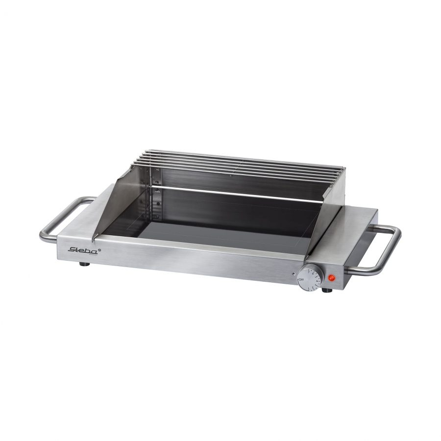 Stainless steel glass grill GP 3 S